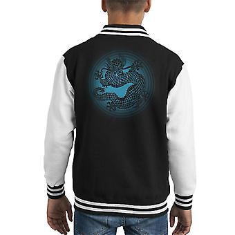 Dragon Kid's Varsity Jacket blauw