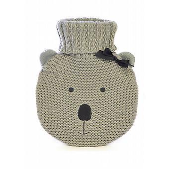 Grey Koala Bear Knitted Cover 750ml Circular Hot Water Bottle