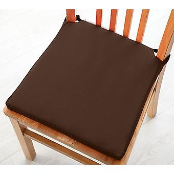 Pack of 2 Cotton Twill Dining Chair Seat Pad Cushion - Chocolate