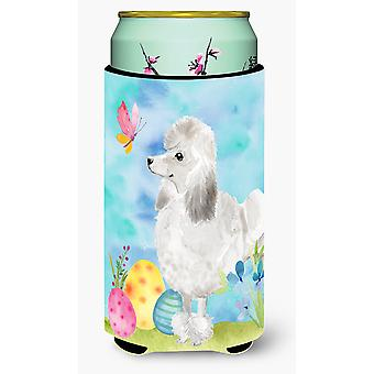 White Standard Poodle Easter Tall Boy Beverage Insulator Hugger