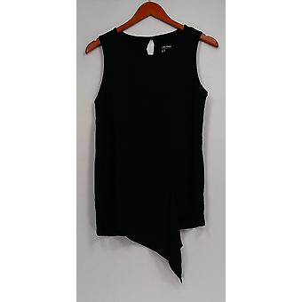 Lisa Rinna Collection Top Asymmetric Front Tank Black A309110