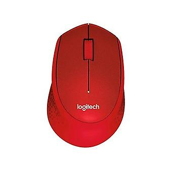Logitech m330 silent plus wireless mouse mechanical 1,000 dpi right hand red color