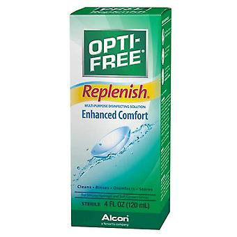 Opti-free replenish contact lens solution, enhanced comfort, 4 oz