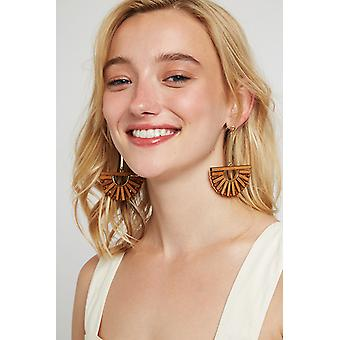 Louche Noah Earring Brown