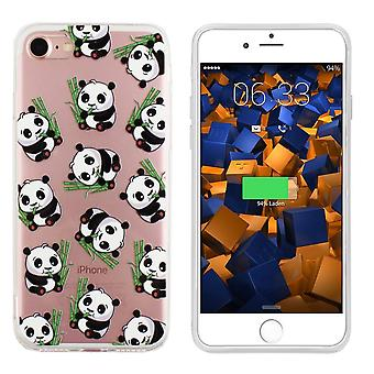 Backcover TPU + PC voor Apple iPhone 8/7 Panda Transparant