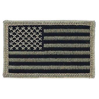 Patch Ecusson Brode Bandiera USA USA U.S. Camouflage Black Airsoft