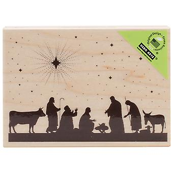 Hero Arts Mounted Rubber Stamps Nativity Ha K5817