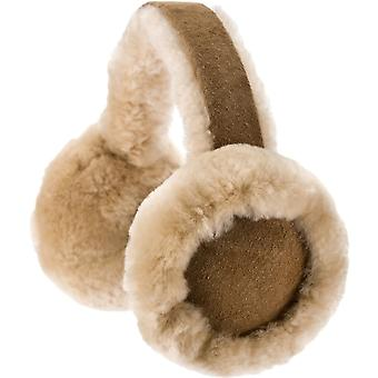 Genuine Sheepskin Ear Muffs - Chestnut