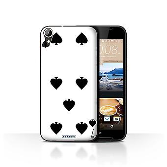 STUFF4 Case/Cover for HTC Desire 830/7 of Spades/Playing Cards