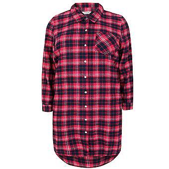 Roze & Marine geborsteld Check Nachthemd met metalen draad