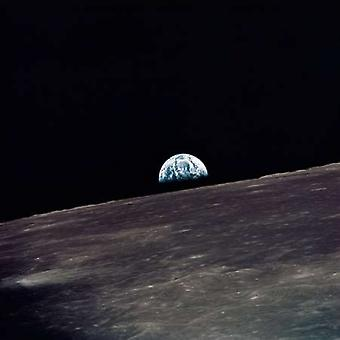 Earthrise viewed from Apollo 10 1969 Poster Print by NASA