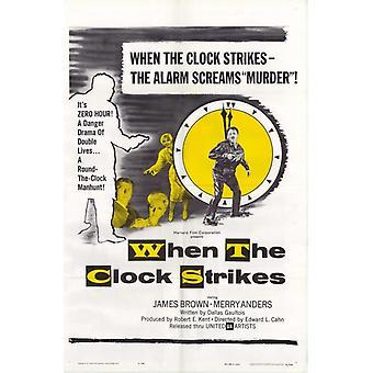 Wenn die Uhr Streiks Movie Poster drucken (27 x 40)