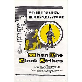 When the Clock Strikes Movie Poster Print (27 x 40)