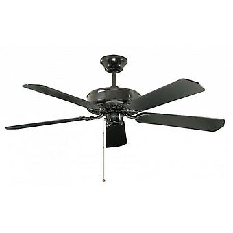 Ceiling Fan Classic black with pull cord 132 cm / 52