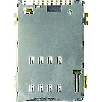SIM Card connector No. of contacts: 8 Push, Push Yamaichi incl. switch 1 pc(s)