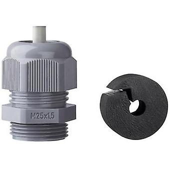 Cable gland with strain relief M25 Polyamide Black (RAL 9005) Jacob K345-1025-02 1 pc(s)