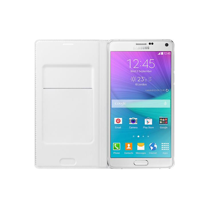 Samsung EF-WN910FTEG Flip Wallet Cover Case for Galaxy Note 4 white