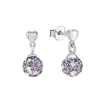 Princess Lillifee children earrings silver crystals purple 2013163