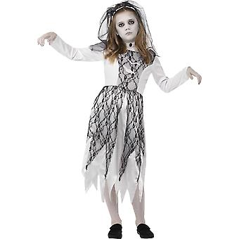 Smiffys Childrens meisjes spookachtige Bride Halloween Fancy Dress kostuum grijs jurk