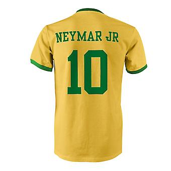 Neymar JR 10 Brazilië land Ringer T-Shirt