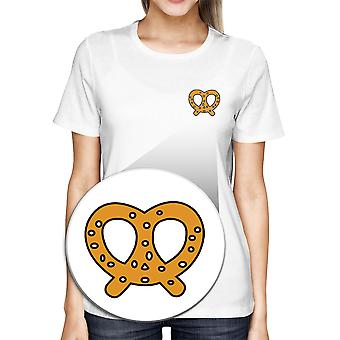 Pretzel Pocket T-shirt Back To School Tee Ladies Cute Shirt