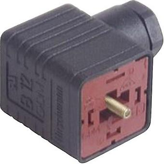 Hirschmann 932 214-100 GDM 3009 J sw Right-angle Connector Black Number of pins:3 + PE