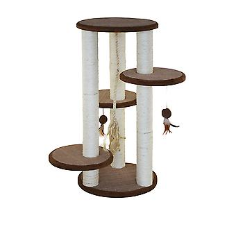 Tiragraffi Cat Scratch Post Jungle Village 45x45x92cm