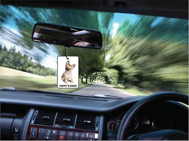 Personalised Chihuahua Puppy Car Air Freshener