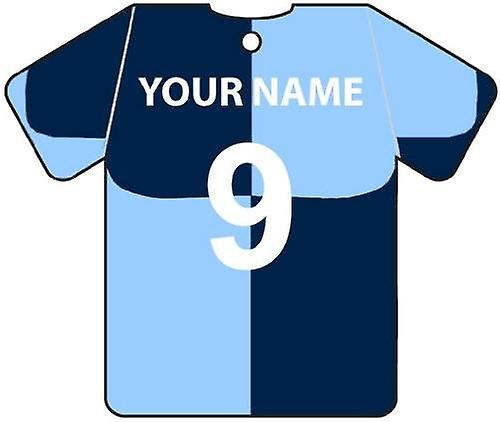 Personalised Wycombe Wanderers Football Shirt Car Air Freshener