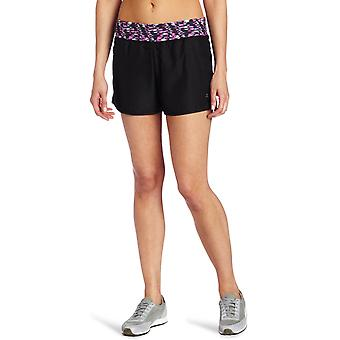 Danskin Women's Training Water Mark Run Short - Rich Black
