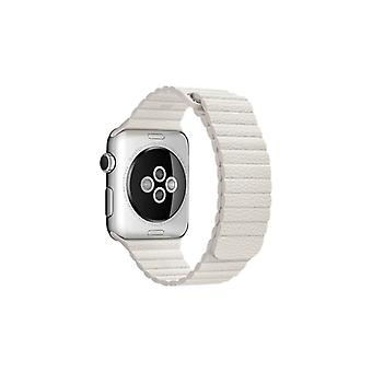 Apple 42 mm Leather Loop-medium-klockrem-White-Watch (42 mm)