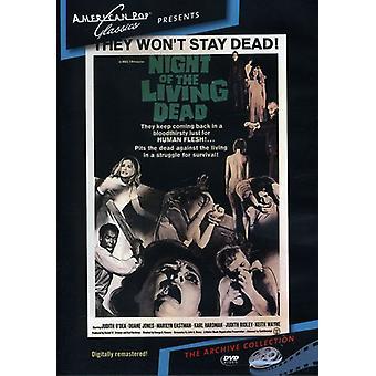 Noche de los muertos vivientes (1968) importación de Estados Unidos [DVD]