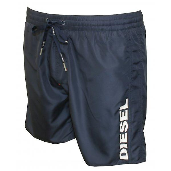Diesel Diesel Side Logo Swim Shorts, Navy