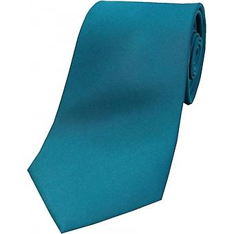 David Van Hagen Satin Silk Tie - Teal