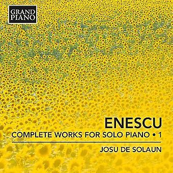 Enescu, G. / Solaun, Josu De - Enescu, G. / Solaun, Josu De: værker for Solo klaver: Enescu 1 [CD] USA import