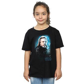 Star Wars Girls die letzten Jedi Luke Skywalker gebürstet T-Shirt
