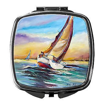 Carolines Treasures  JMK1237SCM Horn Island Boat Race Sailboats Compact Mirror