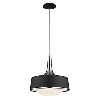 FE/HOLLOWAY/4P B Holloway 4 Light Steel and Black Ceiling Pendant