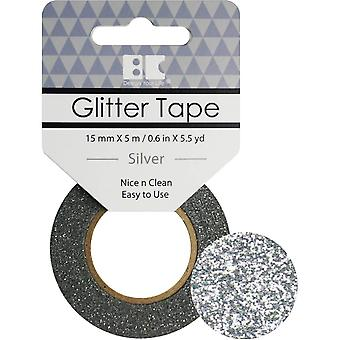 Best Creation Glitter Tape 15mmX5m-Silver GTS-001
