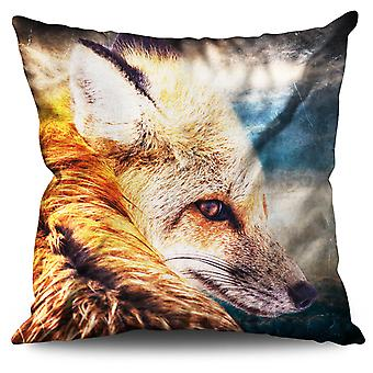 Wolf Beast Nature Animal Linen Cushion Wolf Beast Nature Animal | Wellcoda