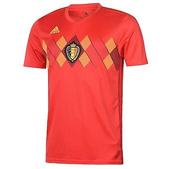 2018-2019年ベルギー ホーム アディダス サッカー シャツ