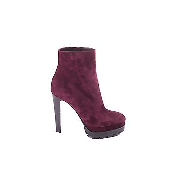 Sergio Rossi women's A72430331BORDEAUX Bordeaux red Suede Ankle Boots