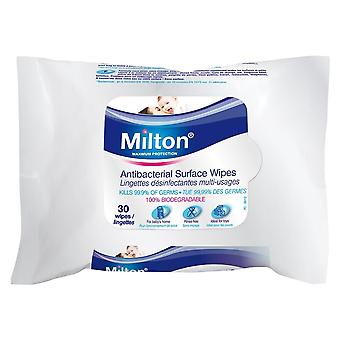 Milton Antibacterial Surface Wipes (30s)