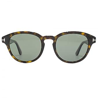 Tom Ford Von Bulow Sunglasses In Dark Havana Green