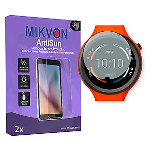 Motorola Moto 360 Sport Smartwatch Screen Protector - Mikvon AntiSun (Retail Package with accessories) (intentionally smaller than the display due to its curved surface)