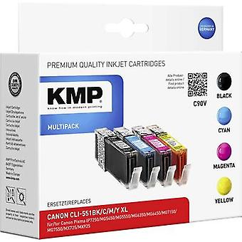 KMP Ink replaced Canon CLI-551 Compatible Set Phot