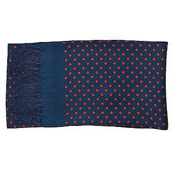 Claudio Lugli Silk sjaal In Marine Polka Dot