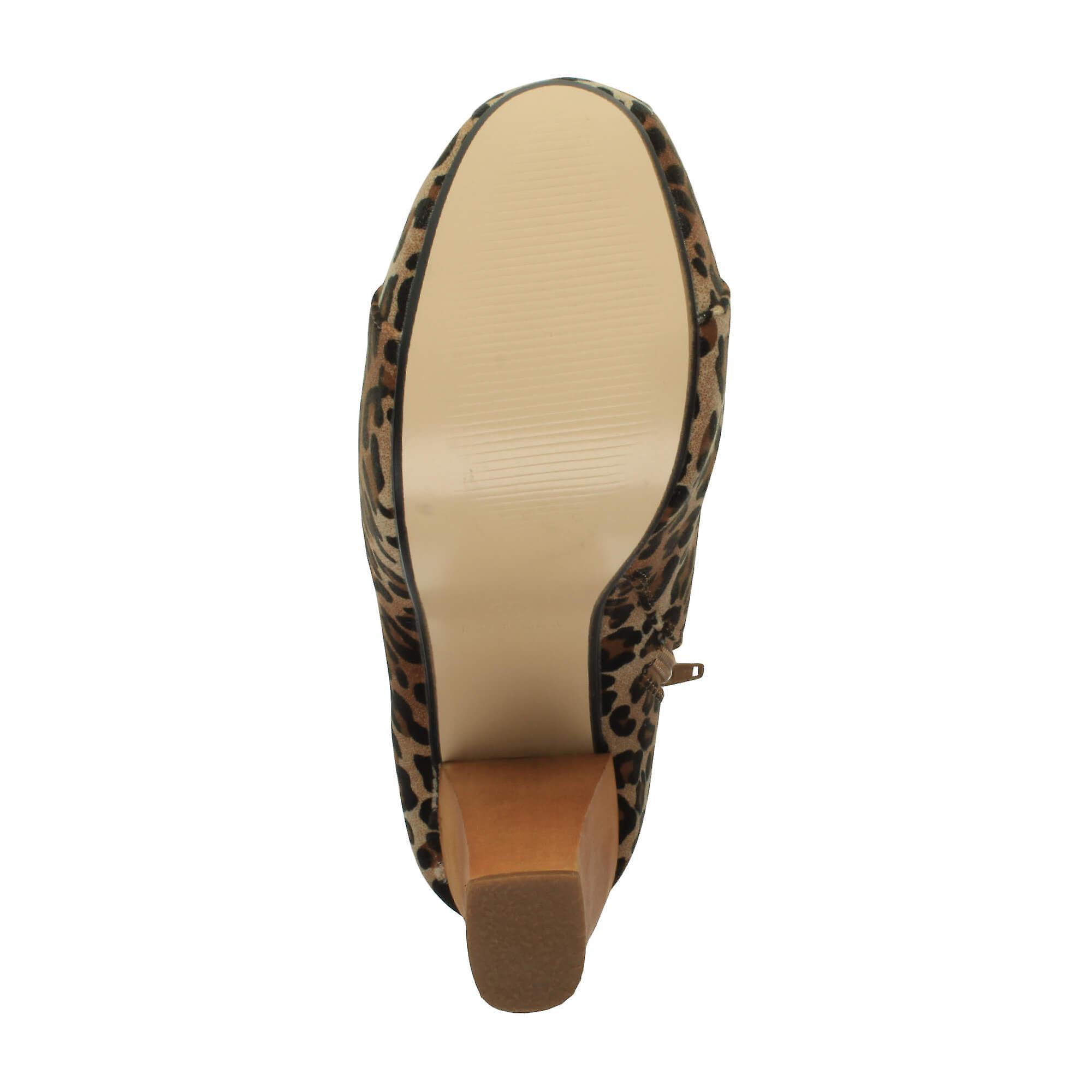 48893cba1b0 Ajvani womens lace up platform wooden block high heel booties ankle boots
