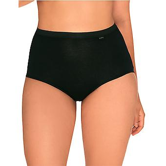 Sans Complexe 619102 Women's Simple Black Solid Colour Knickers Panty Brief