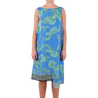 Versace collection ladies G35457G603738G7375 light blue/green polyester dress
